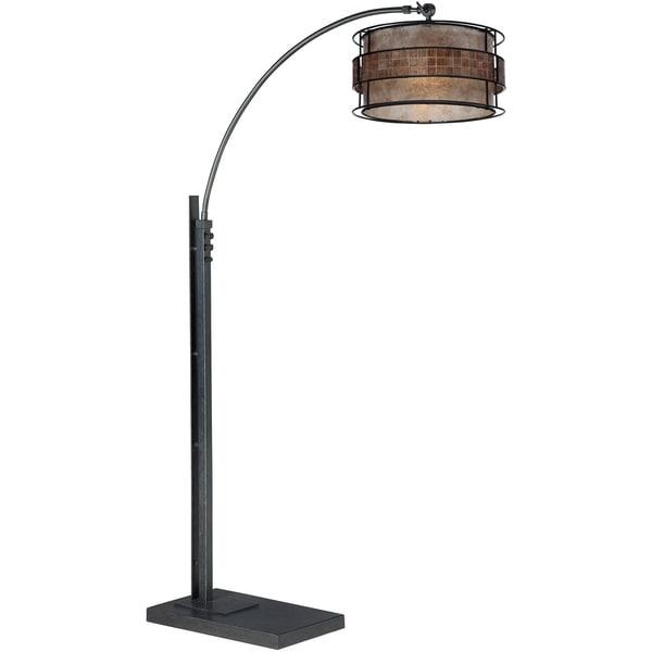 laguna 1 light black floor arc lamp free shipping today 16213063. Black Bedroom Furniture Sets. Home Design Ideas