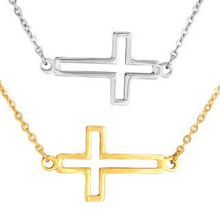ELYA Stainless Steel Open Cross Necklace