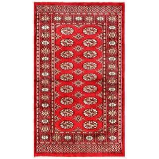 Herat Oriental Pakistani Hand-knotted Bokhara Wool Rug (3' x 5'2)