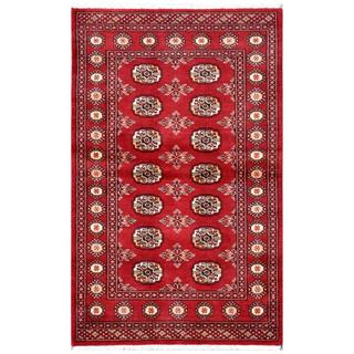 Herat Oriental Pakistani Hand-knotted Bokhara Wool Rug (3'2 x 5')