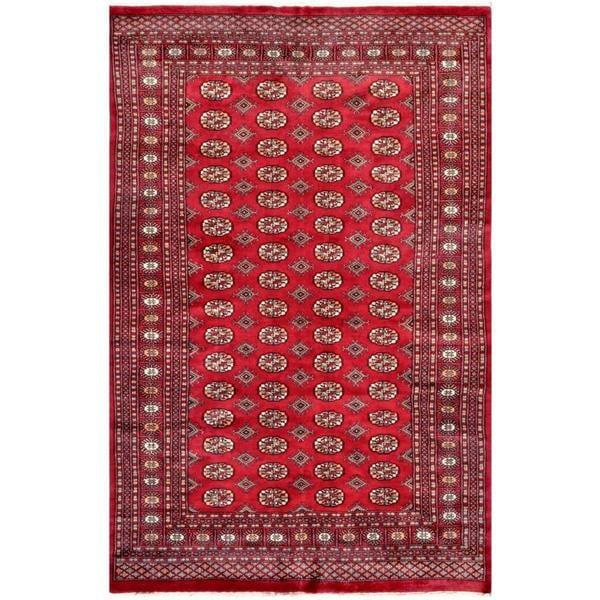 Herat Oriental Pakistani Hand-knotted Bokhara Wool Rug (5'11 x 9')