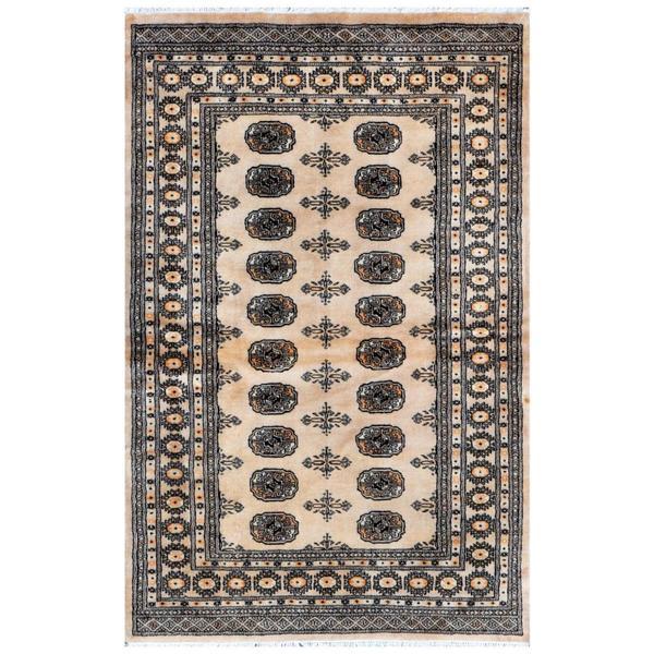 Herat Oriental Pakistani Hand-knotted Bokhara Wool Rug (4' x 6'3)