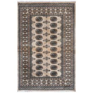 Handmade One-of-a-Kind Bokhara Wool Rug (Pakistan) - 4'2 x 6'3