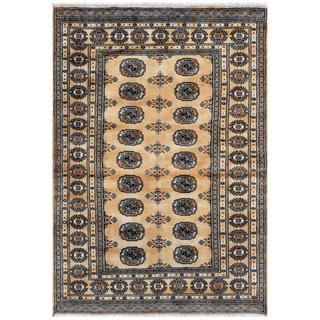 Herat Oriental Pakistani Hand-knotted Bokhara Wool Rug (4'1 x 5'10)