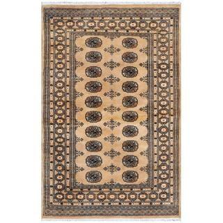 Herat Oriental Pakistani Hand-knotted Bokhara Wool Rug (4'2 x 6'2)