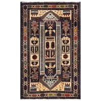 Herat Oriental Semi-antique Afghan Hand-knotted Tribal Balouchi Wool Area Rug (2'8 x 4'5)