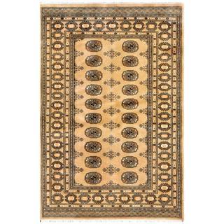 Herat Oriental Pakistani Hand-knotted Bokhara Wool Rug (4'2 x 6'1)