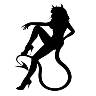 Devil Girl Silo Vinyl Wall Decal