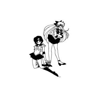 Two Anime Girls Vinyl Wall Art