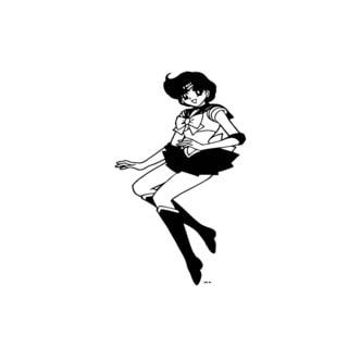 Anime Girl Vinyl Wall Art