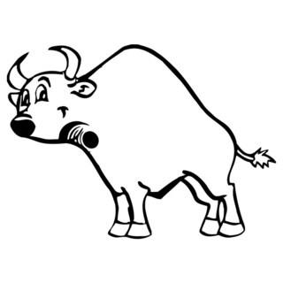 Big Bull Animal Vinyl Wall Art