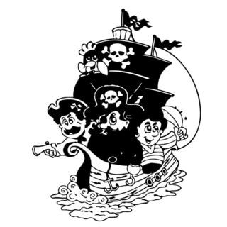 Pirate Ship Vinyl Wall Art