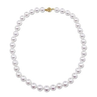 Miadora Signature Collection 14k Yellow Gold South Sea White Pearl Necklace (10-11.5 mm) - Yellow Gold/White - 10-11.5 mm