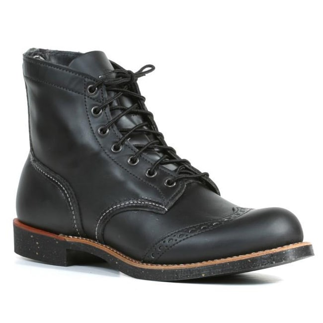 Leather Wing Tip Boots - Overstock