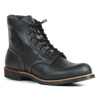 Red Wing Heritage Men's 'Ranger' Black Leather Wing Tip Boots