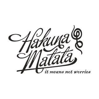 Hakuna Matata Vinyl Wall Decal 2