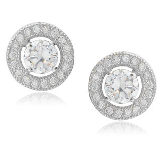 Journee Collection Sterling Silver Cubic Zirconia Stud Earrings