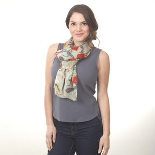 Floral and Paisley Design Scarf