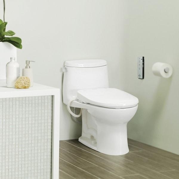 Shop Toto Elongated Cotton White Washlet Toilet Seat
