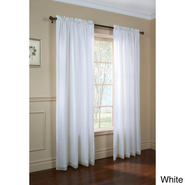 Shop Rhaspody Lined European Voile Rod Pocket Top Curtain Panel Pair
