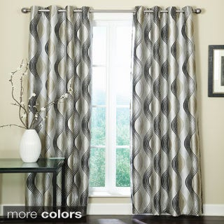 Grand Luxe Franklin Grommet Top 84-inch Curtain Panel