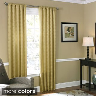 Grand Luxe Bannerton Rod Pocket 84-inch Curtain Panel