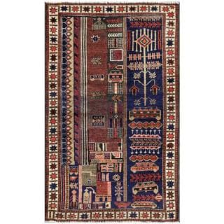 Herat Oriental Semi-antique Afghan Hand-knotted Tribal Balouchi Wool Area Rug (2'7 x 4'2)