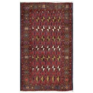 Handmade One-of-a-Kind Balouchi Wool Rug (Afghanistan) - 2'6 x 4'3