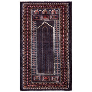Herat Oriental Semi-antique Afghan Hand-knotted Tribal Balouchi Wool Rug (2'8 x 4'6)