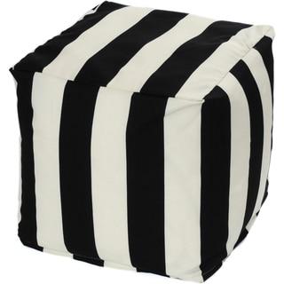 Striped Indoor/ Outdoor Beanbag Cube