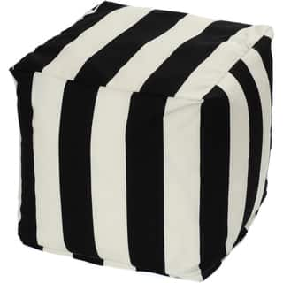 Striped Indoor/ Outdoor Beanbag Cube|https://ak1.ostkcdn.com/images/products/9011674/P16213844.jpg?impolicy=medium