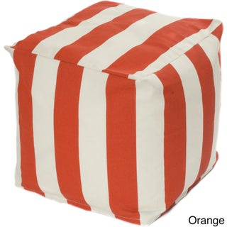 Porch & Den Hopecrest Dorsey Striped Indoor/ Outdoor Beanbag Cube