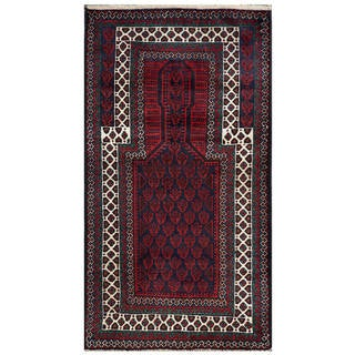 Handmade One-of-a-Kind Balouchi Wool Rug (Afghanistan) - 2'8 x 4'10