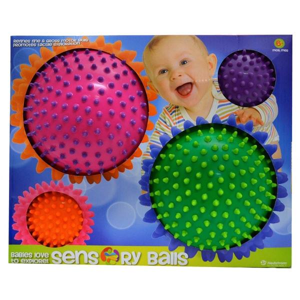 Style 1 Mini Sensory Multi Knobby Balls (Set of 4)
