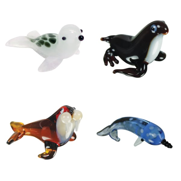 Looking Glass Seal and Walrus Miniature Figures