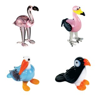 Looking Glass Flamingo-themed Miniature Figures