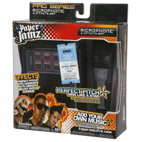 Paper Jamz Grey and Black Pro Microphone