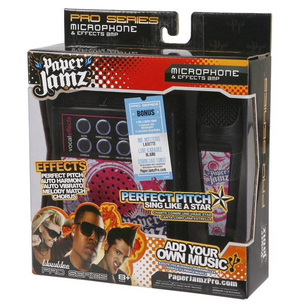 Paper Jamz Pink and Black Pro Microphone