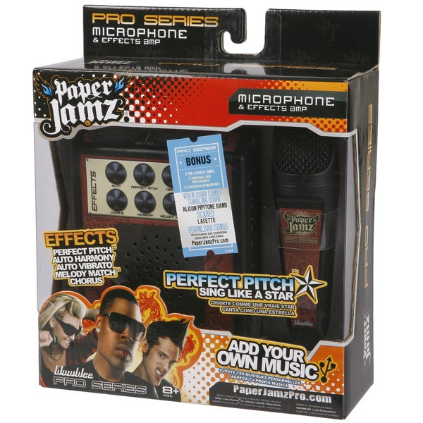 Paper Jamz Red and Black Pro Microphone