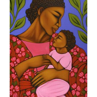 Tamara Adams 'African Mother and Baby' Canvas Art