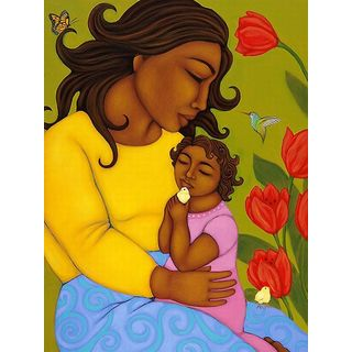 Tamara Adams 'Mom and Child' Canvas Art