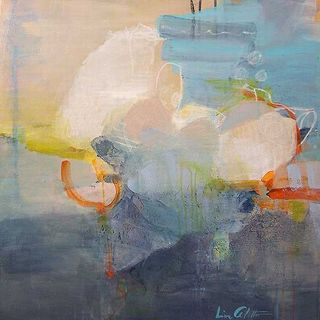 Lina Alattar 'Above the Clouds' Canvas Art