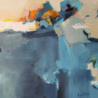 Lina Alattar 'Dizzy at the Edge' Canvas Art
