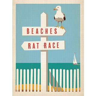 Anderson Design Group 'Beaches vs. Rat Race ' Canvas Art