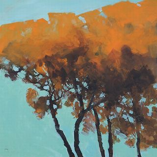 Paul Bailey 'Five Trees' Canvas Art