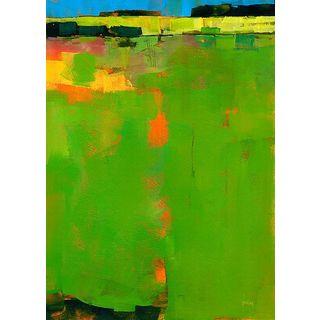 Paul Bailey 'Green Field' Canvas Art
