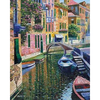 Howard Behrens 'Romantic Canal' Canvas Art