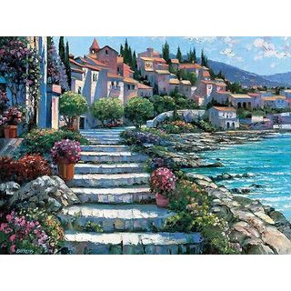 Howard Behrens 'Steps of St. Tropez' Canvas Art