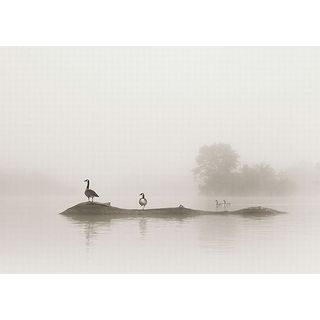 Nicholas Bell 'Melton Lake' Canvas Art