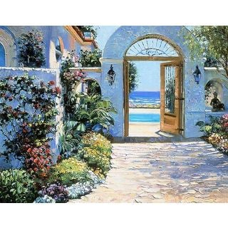 Howard Behrens 'Hotel California' Canvas Art